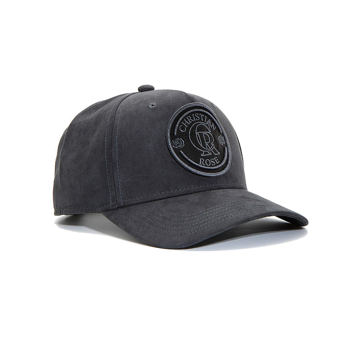 CHRISTIAN ROSE SUEDE TRUCKER CAP CR012 GREY/GREY