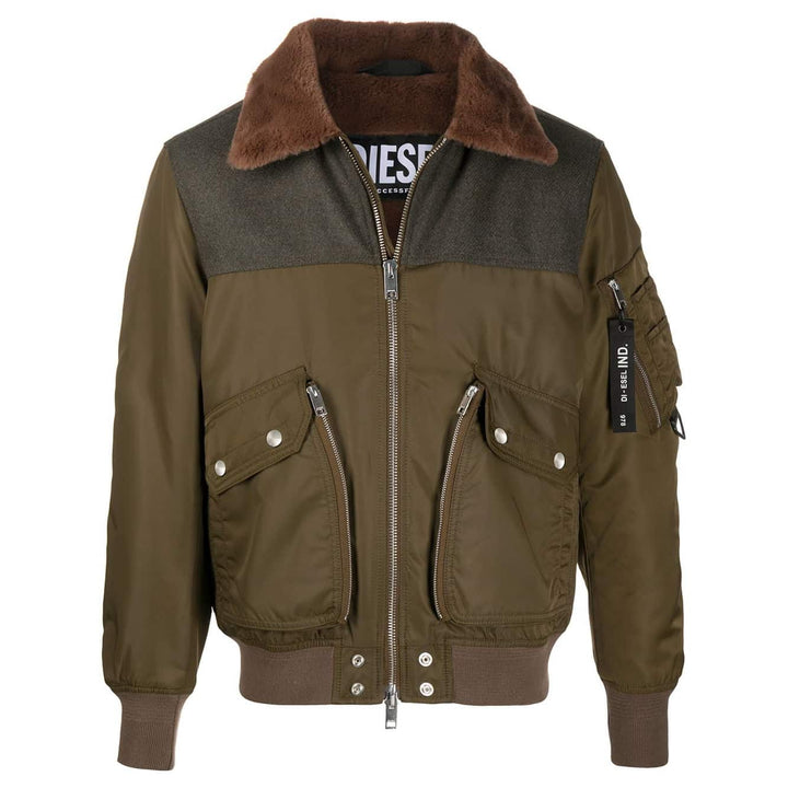 DIESEL L/S W-LOUIS FITTED BOMBER JACKET A00563 KHAKI (512)