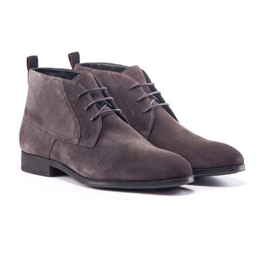 HUGO BOSS BOHEME DESB SUEDE LACE UP BOOT 50417947 DARK GREY