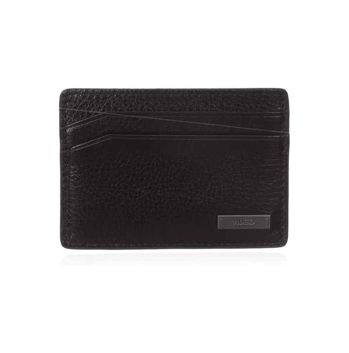 HUGO BOSS CREDIT CARD LEATHER WALLET 50317128 BLACK