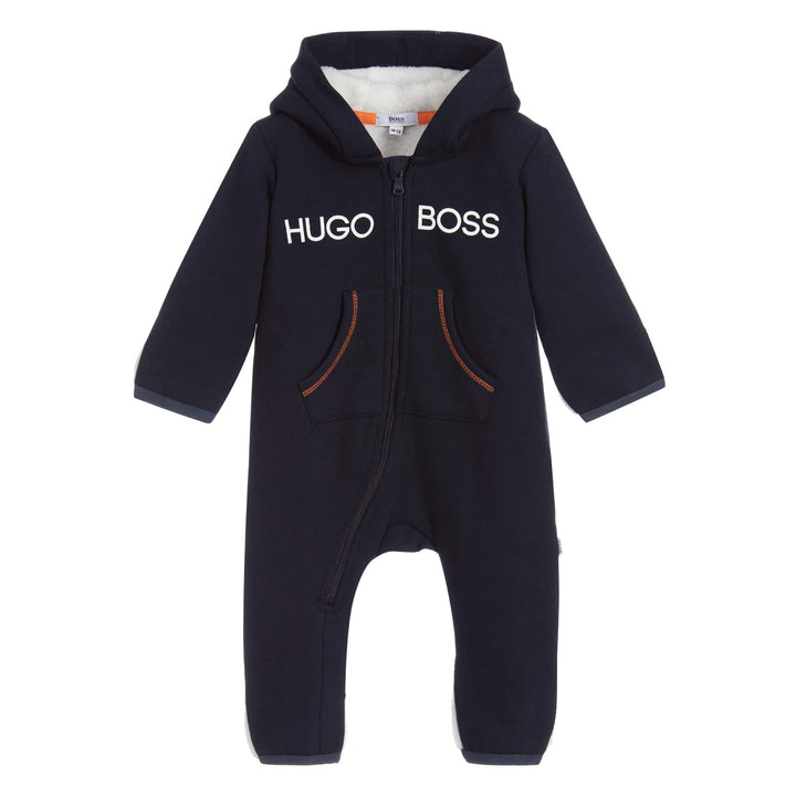 HUGO BOSS KIDS ALL IN ONE BABY GROW J94264 NAVY