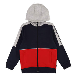 HUGO BOSS KIDS L/S LOGO BRANDED HOODY J25E52 NAVY