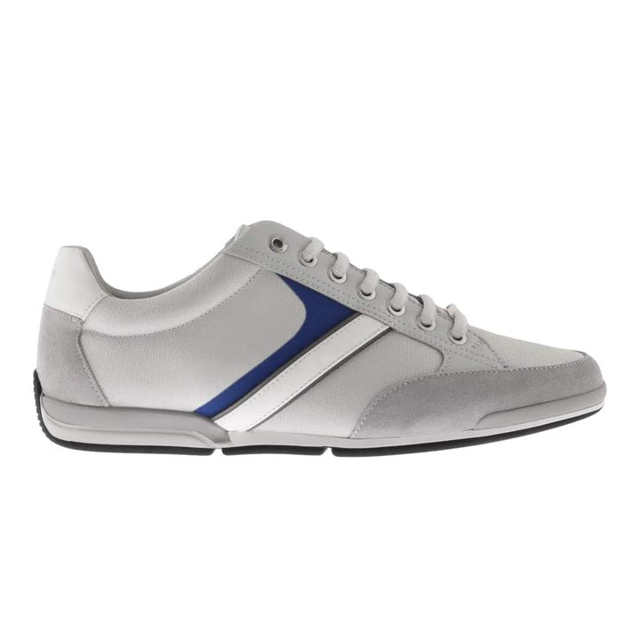 HUGO BOSS SATURN_LOWP_MX LACE UP TRAINER 50407672 LIGHT PASTEL GREY (054)