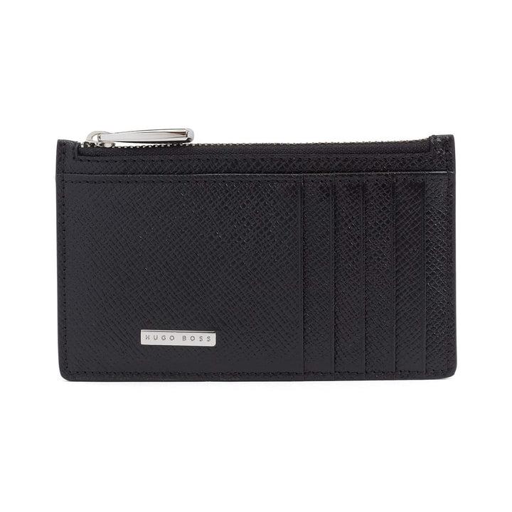 HUGO BOSS SIGNATURE 5CC Z POUCH CARD WALLET 50236710 BLACK