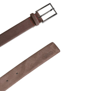 HUGO BOSS SLIM SUEDE BELT 50332883 SUEDE BROWN
