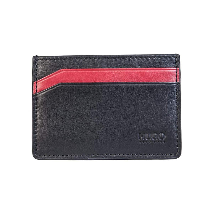 HUGO BOSS SUBWAY BRANDED CREDIT CARD WALLET 50317307 BLACK