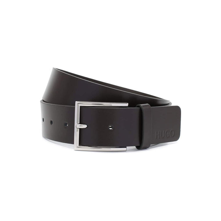 HUGO BOSS GIASPO_SZ40 LEATHER BELT 50430676 DARK BROWN (202)