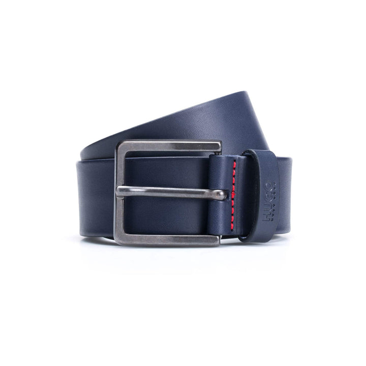 HUGO BOSS GIONIO LEATHER BELT 50385358 DARK BLUE (401)