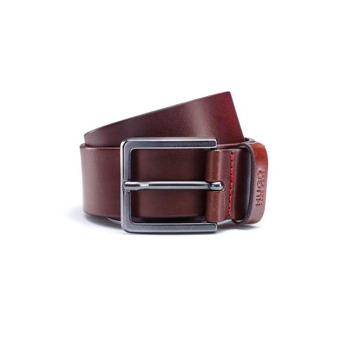 HUGO GIONIO LEATHER BELT 50385358 DARK BROWN