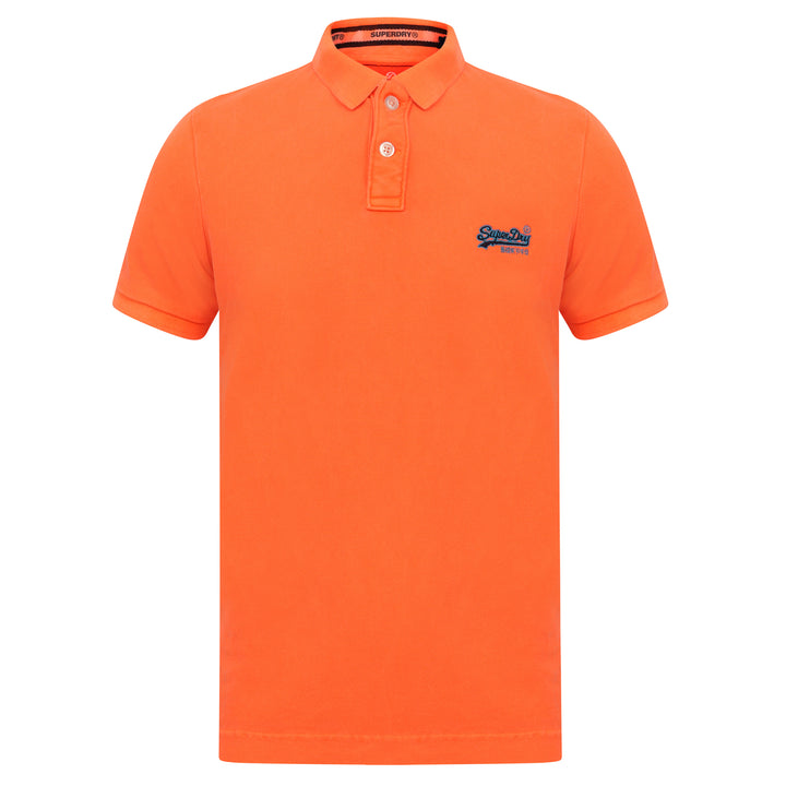 SUPERDRY S/S HYPER CLASSIC PIQUE POLO M11010ET FLURO ORANGE
