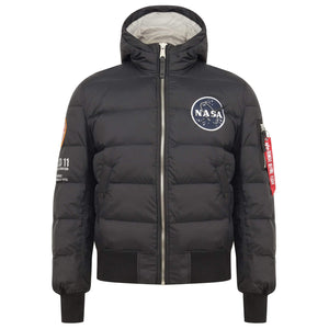 Open image in slideshow, ALPHA INDUSTRIES L/S APOLLO 11 PUFFER JACKET 188142 BLACK
