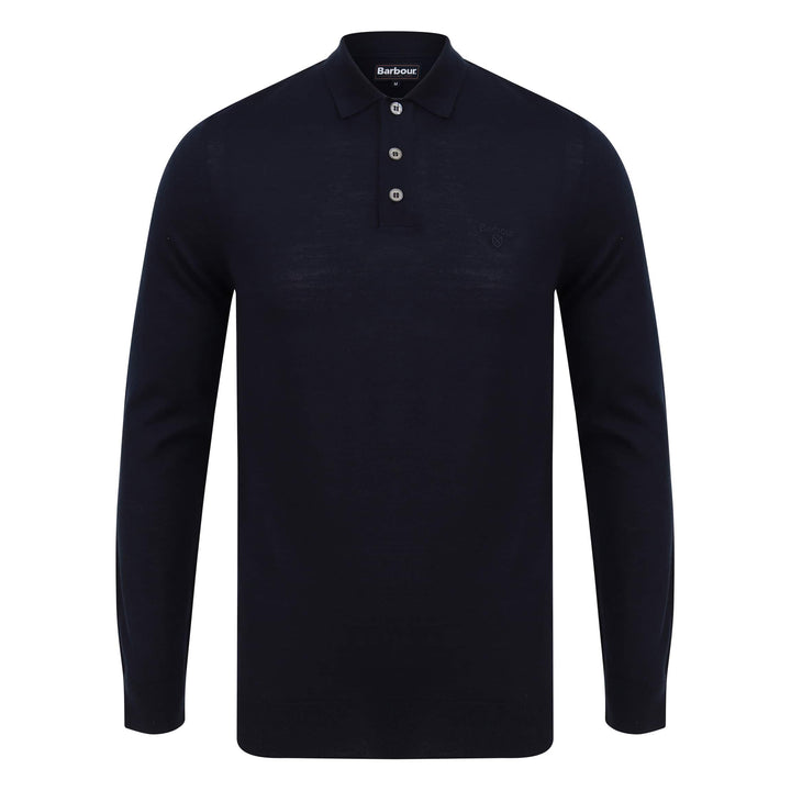 BARBOUR L/S MERINO POLO MKN1106 NAVY