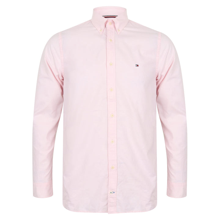 TOMMY HILFIGER L/S FITTED OXFORD SHIRT MW10378 PINK