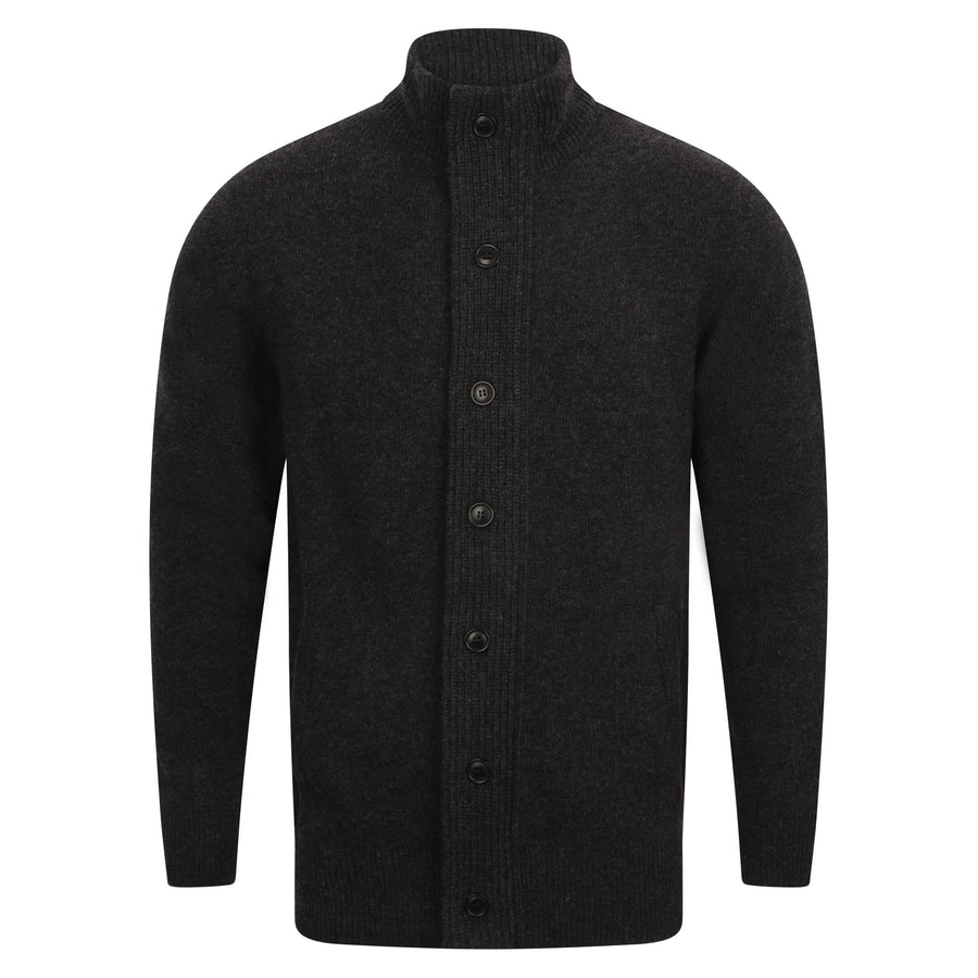 BARBOUR L/S PATCH ZIP THROUGH MKN0731 CHARCOAL