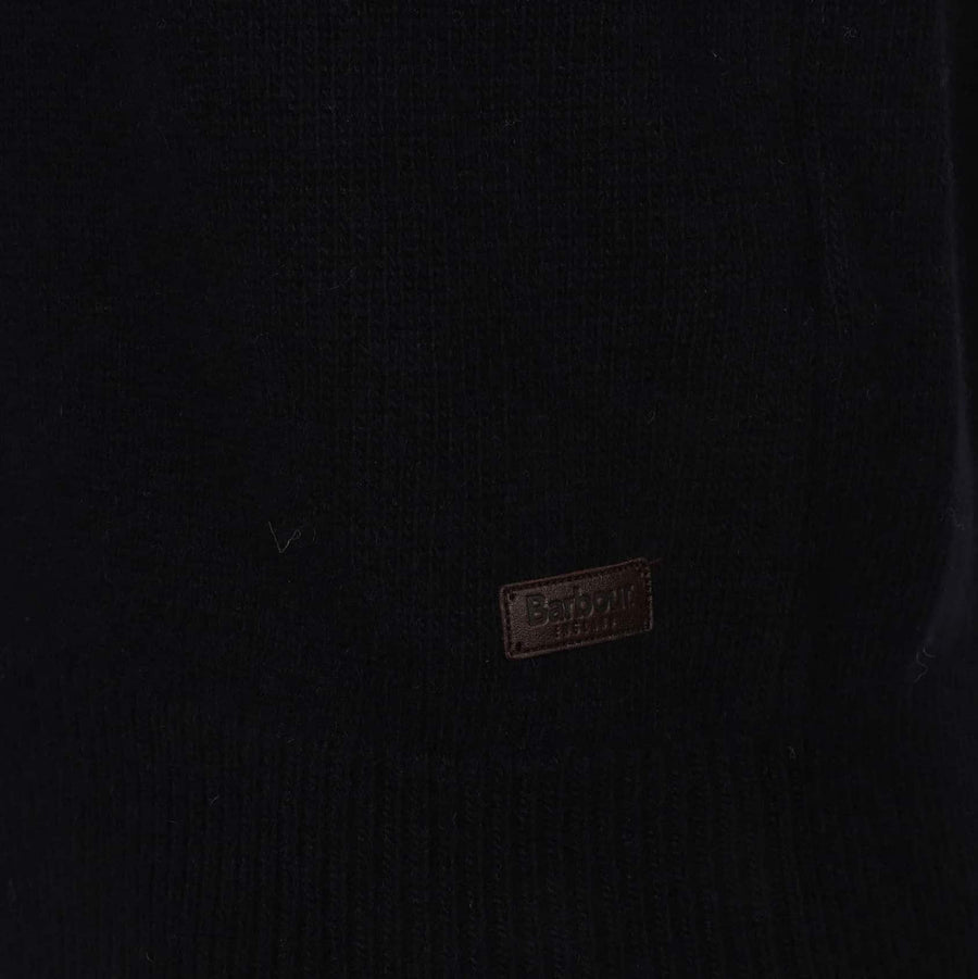 BARBOUR L/S BARBOUR PATCH HALF ZIP JUMPER MKN0585 NAVY