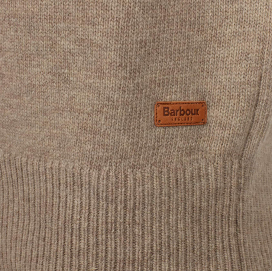 BARBOUR L/S BARBOUR PATCH HALF ZIP JUMPER MKN0585 STONE
