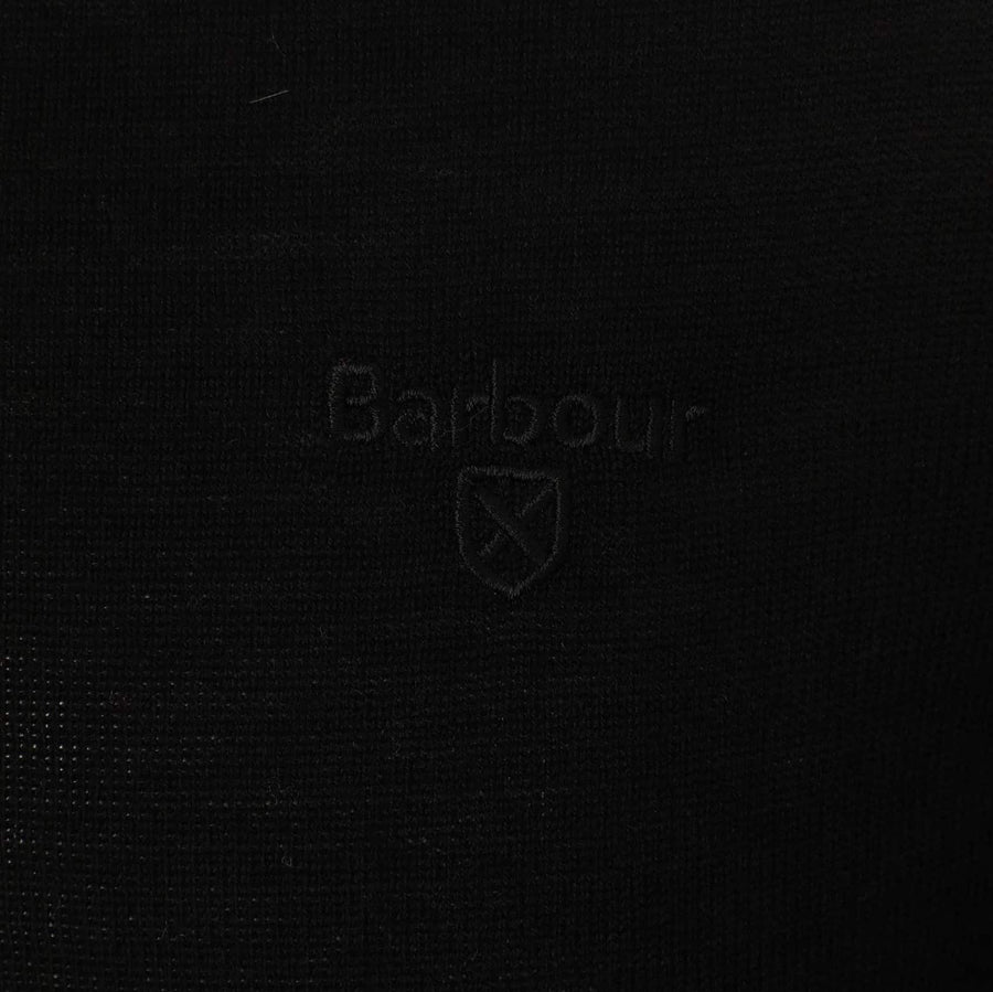BARBOUR L/S MERINO POLO MKN1106 BLACK