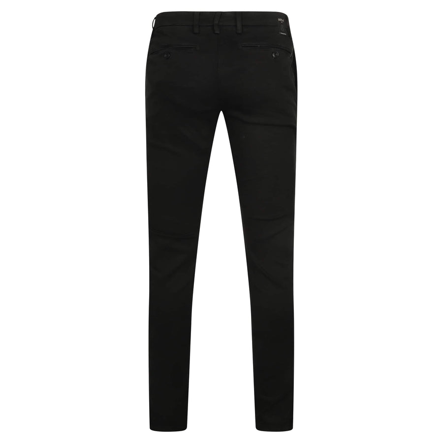 REPLAY SLANT POCKET HYPERFLEX CHINO M9627L.8166197.040 BLACK