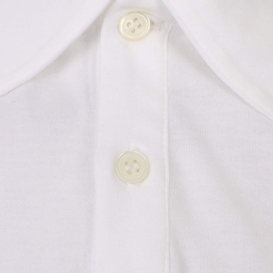 SUNSPEL S/S JERSEY LOOP POLO MPOL1037 WHITE