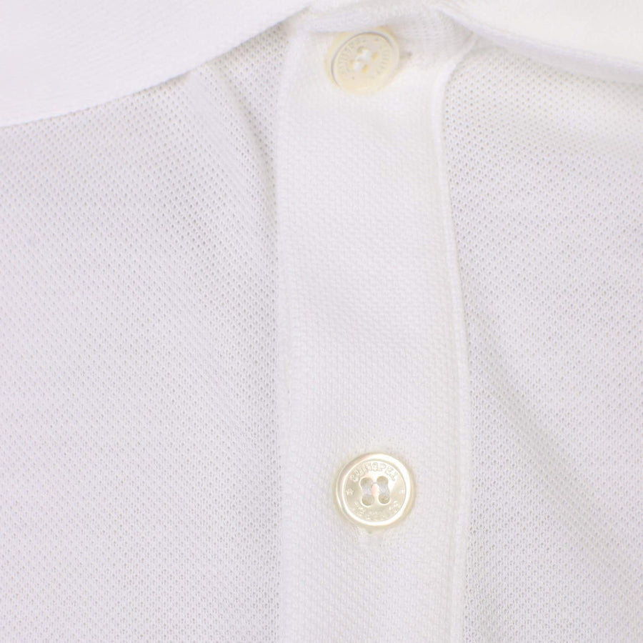 SUNSPEL S/S FITTED PIQUE POLO MPOL1028 WHITE