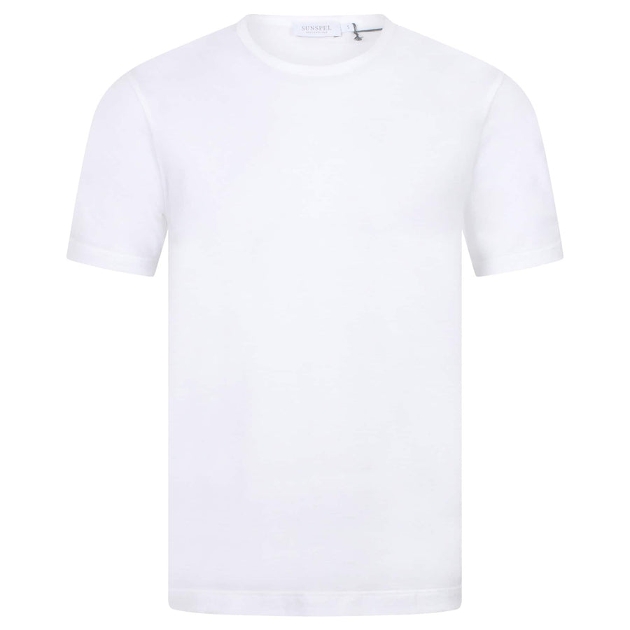 SUNSPEL S/S CREW NECK FITTED T-SHIRT MTSH0001 WHITE