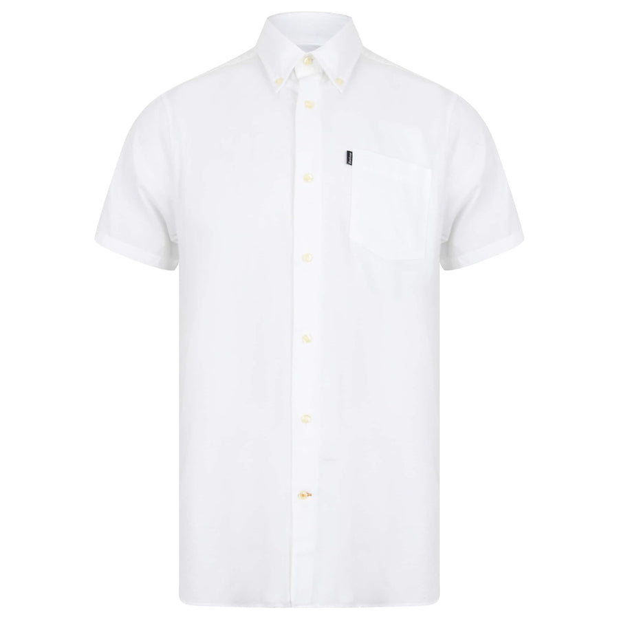 BARBOUR S/S OXFORD 5 TAILORED FIT SHIRT MSH4026 WHITE