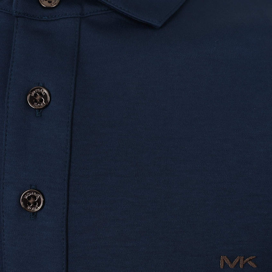 MICHAEL KORS S/S SLEEK LOGO BRANDED POLO CS95FGV20B MIDNIGHT