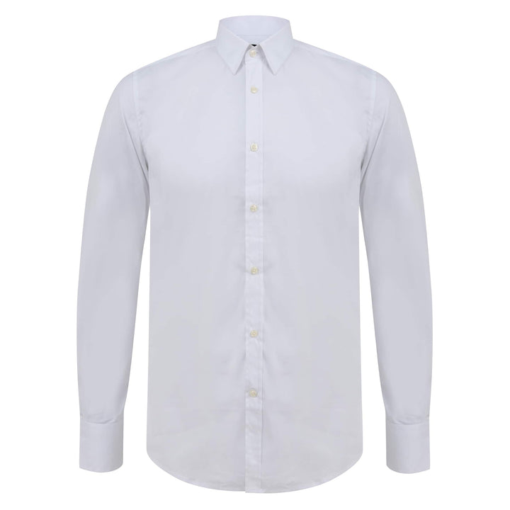 ANTONY MORATO L/S SUPER SLIM FITTED SHIRT MMSL00375/FA450001 WHITE