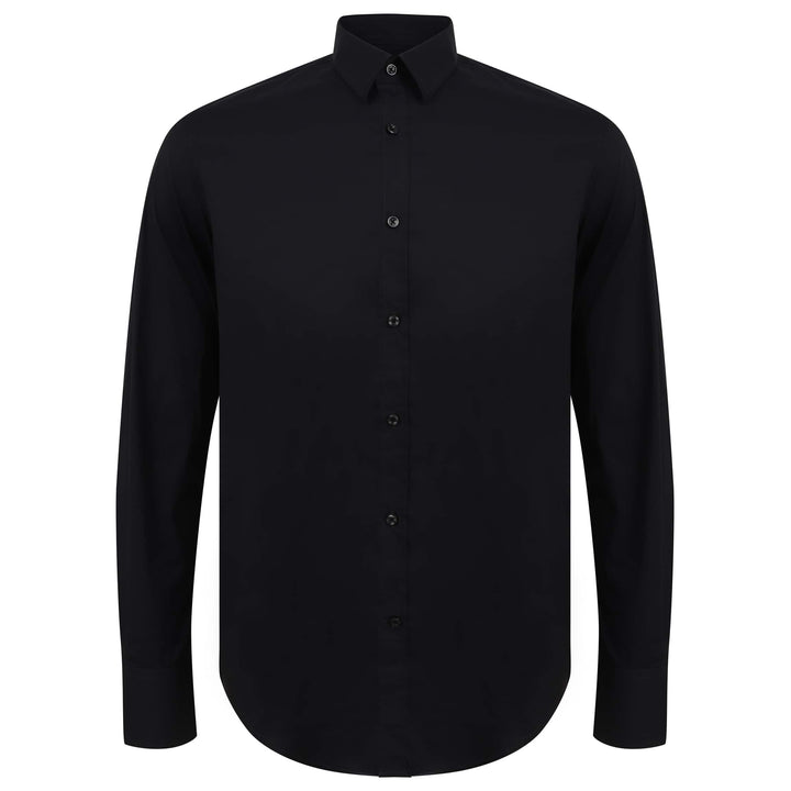 ANTONY MORATO L/S SUPER SLIM FITTED SHIRT MMSL00375/FA450001 BLACK
