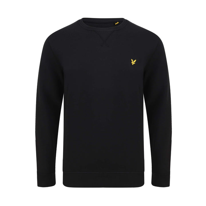 LYLE & SCOTT L/S LOGO BRANDED JUMPER ML424VTR JET BLACK (Z865)