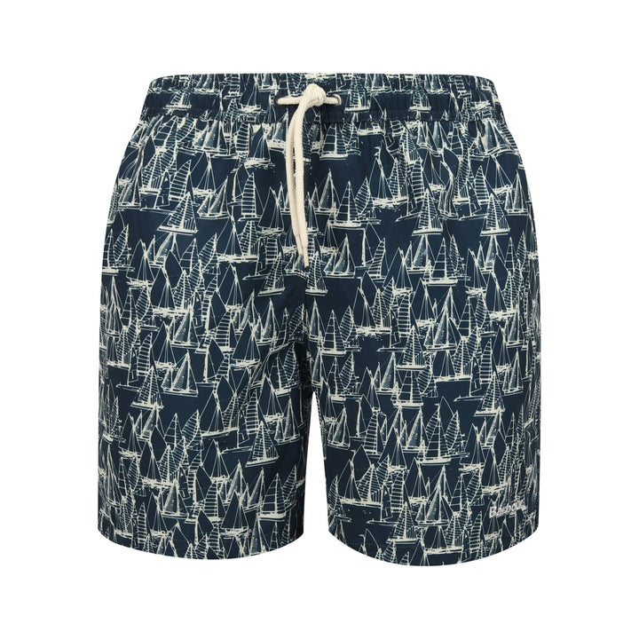 BARBOUR DRAWSTRING BOAT SWIMSHORT MSW0012 NAVY