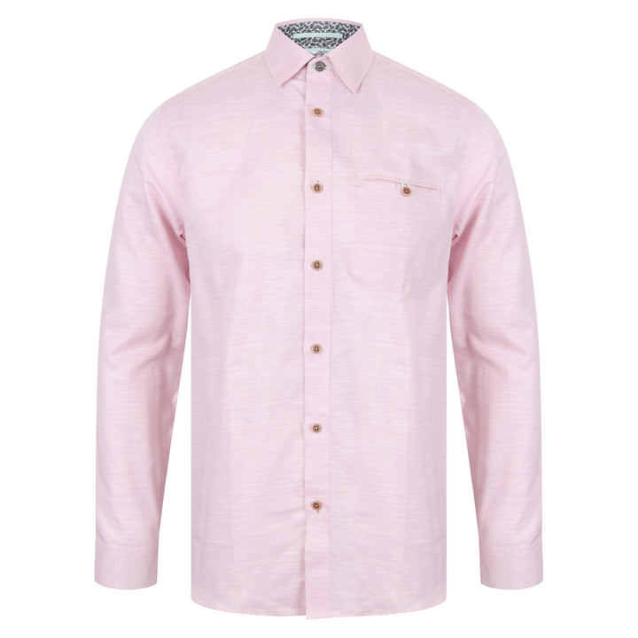 TED BAKER L/S PINSTRIPE SHIRT MMA/RABBIT/TH9M PINK