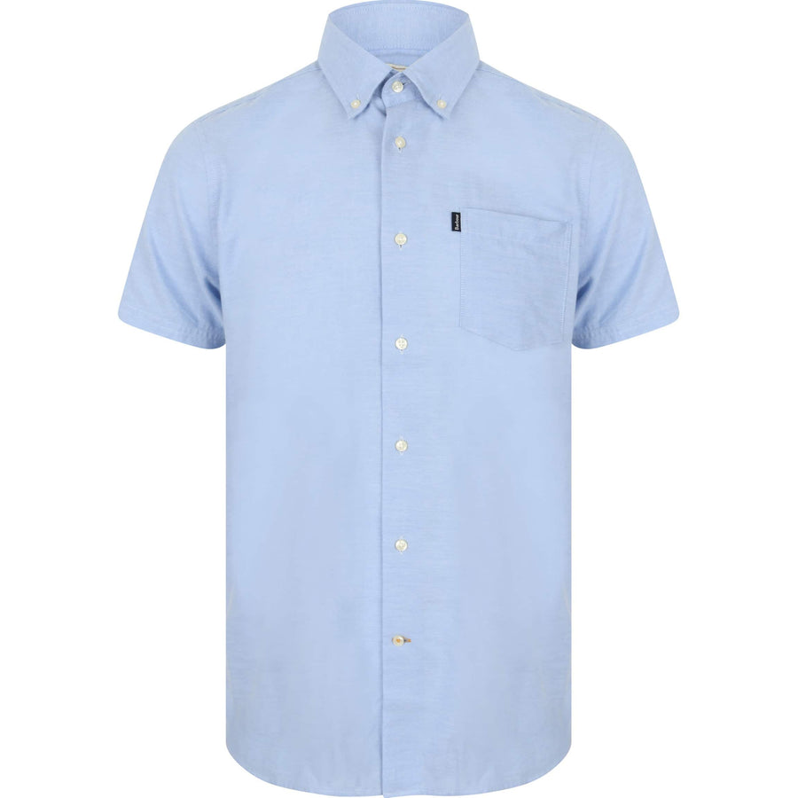 BARBOUR S/S OXFORD 5 TAILORED FIT SHIRT MSH4026 BLUE