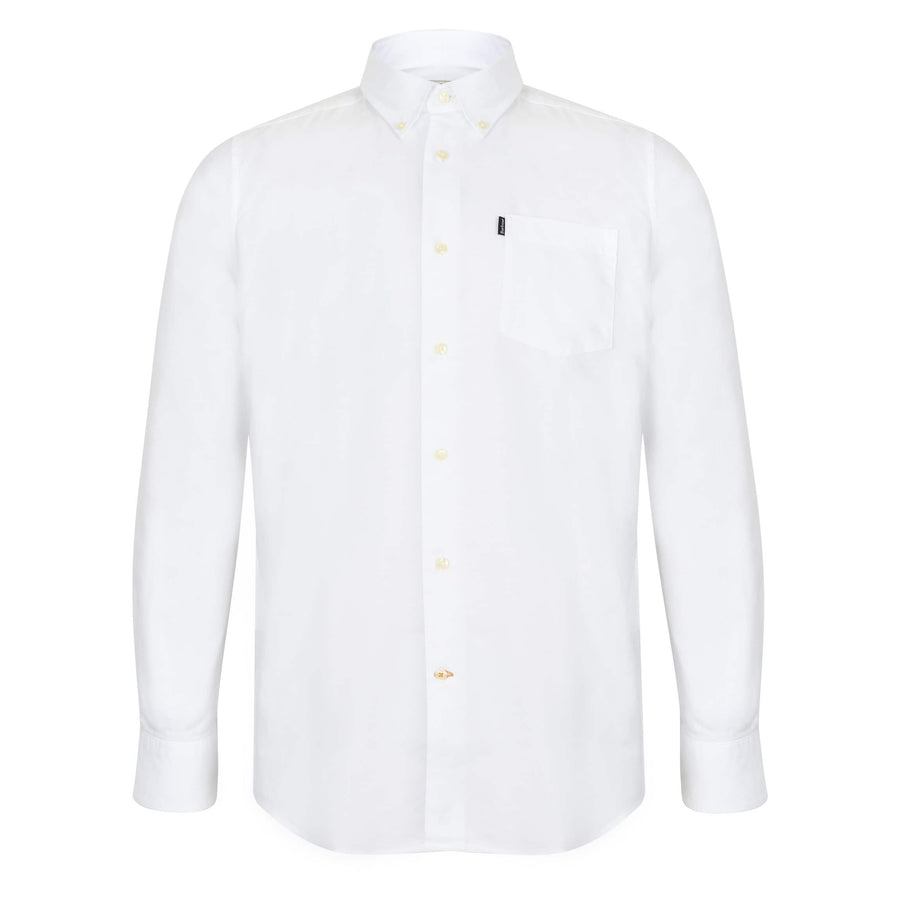 BARBOUR L/S OXFORD 1 TAILORED SHIRT MSH3332 WHITE