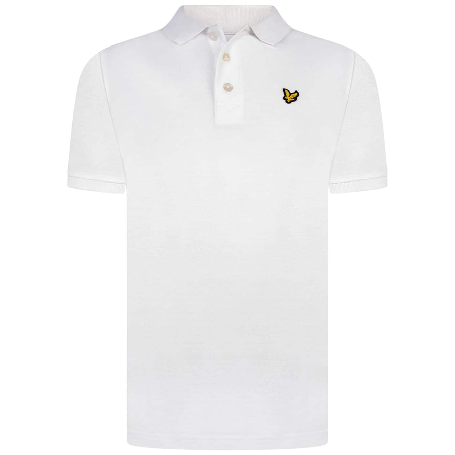 LYLE & SCOTT S/S LOGO BRANDED POLO SP400VB WHITE (626)