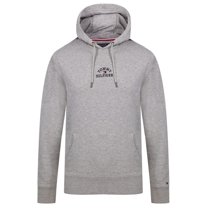 TOMMY HILFIGER L/S TOMMY HILFIGER EMBROIDERED OVERHEAD HOODY MW13037 MEDIUM GREY