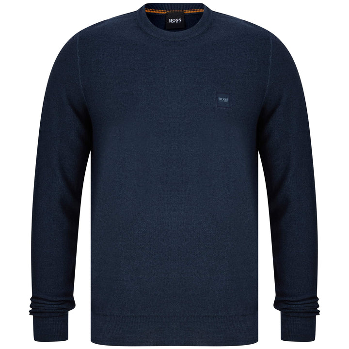 BOSS ANITOBA WEEVE JUMPER 50434326 DARK BLUE (404)