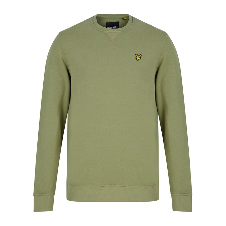 LYLE & SCOTT L/S LOGO BRANDED JUMPER ML424VTR MOSS GREEN (W321) ML424VTR - Green (W321)