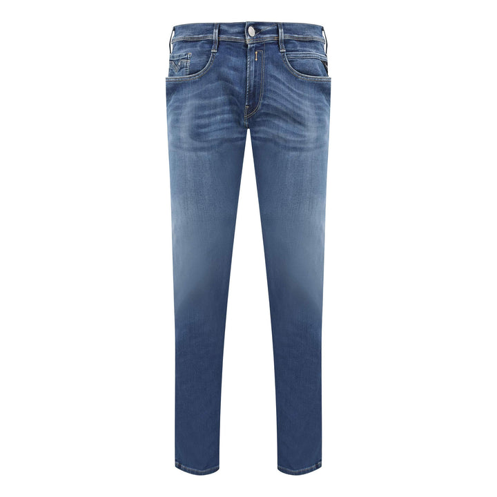 REPLAY ANBASS 5 POCKET HYPERFLEX JEAN M914Y.661.A06.009 BIO BLUE