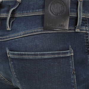 REPLAY 5 POCKET HYPERFLEX BROKEN & REPAIR JEAN M914Y - 661 05D 007 SLATE BLUE Media 1 of 3