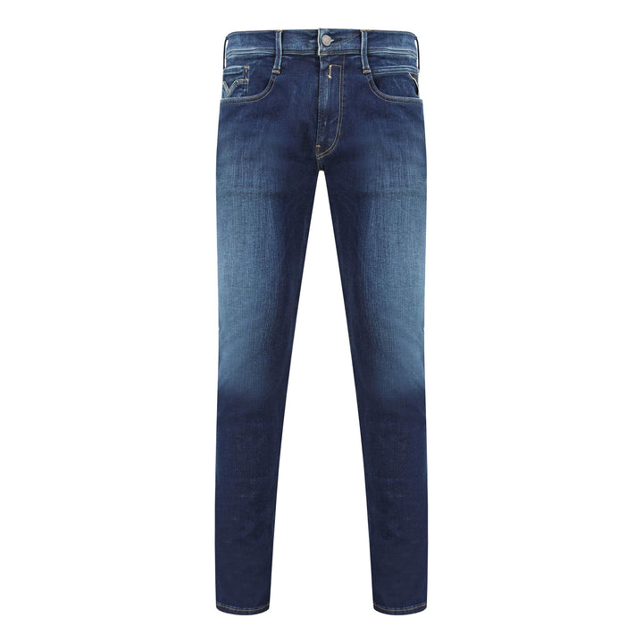 REPLAY ANBASS HYPERFLEX + 5 POCKET JEAN M914 - 661 S16 009 WHISPER BLUE
