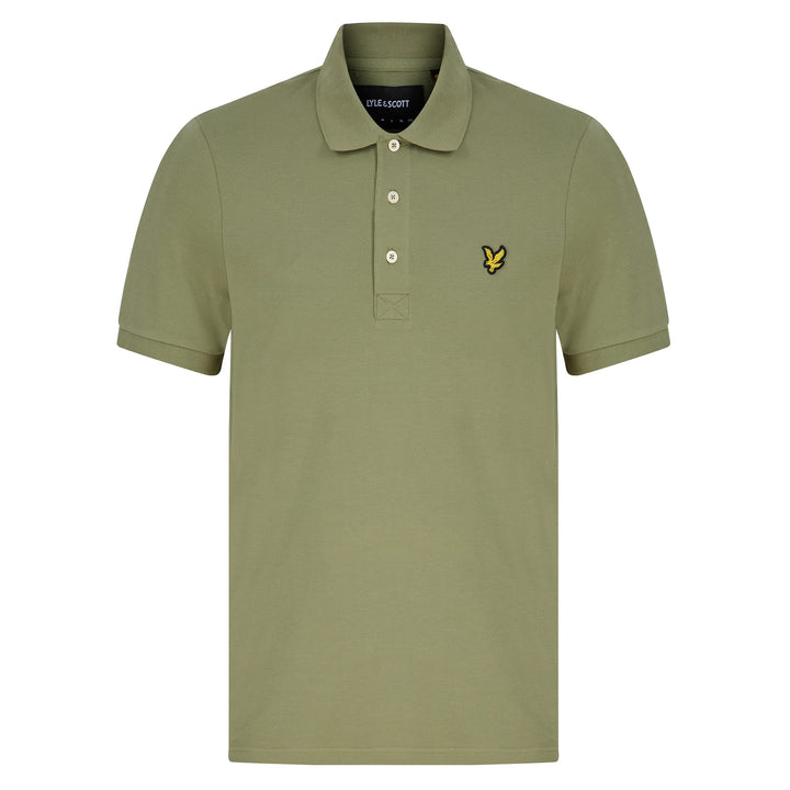 LYLE & SCOTT LOGO BRANDED POLO SP400VOG MOSS GREEN (W321) SP400VOG - Moss Green (W321)
