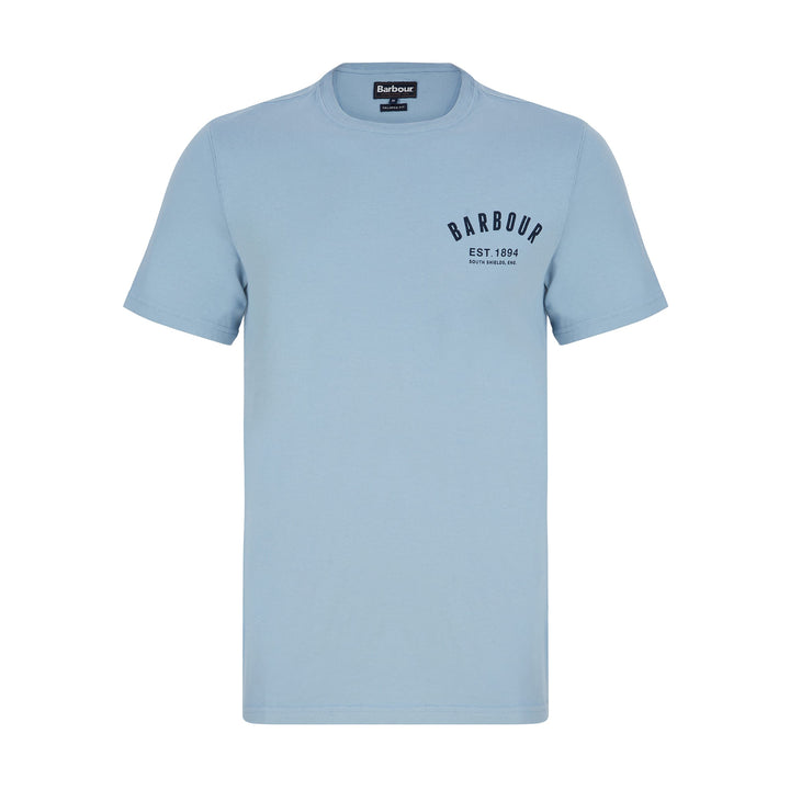 BARBOUR PREPPY T-SHIRT MTS0502 - Powder Blue (BL34)