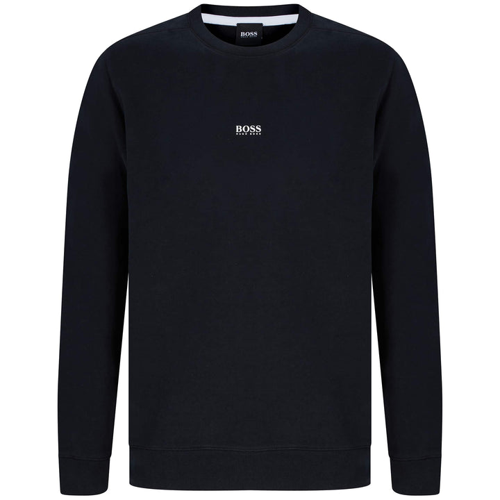 HUGO BOSS L/S WEEVO FITTED JUMPER 50418949 BLACK (001)