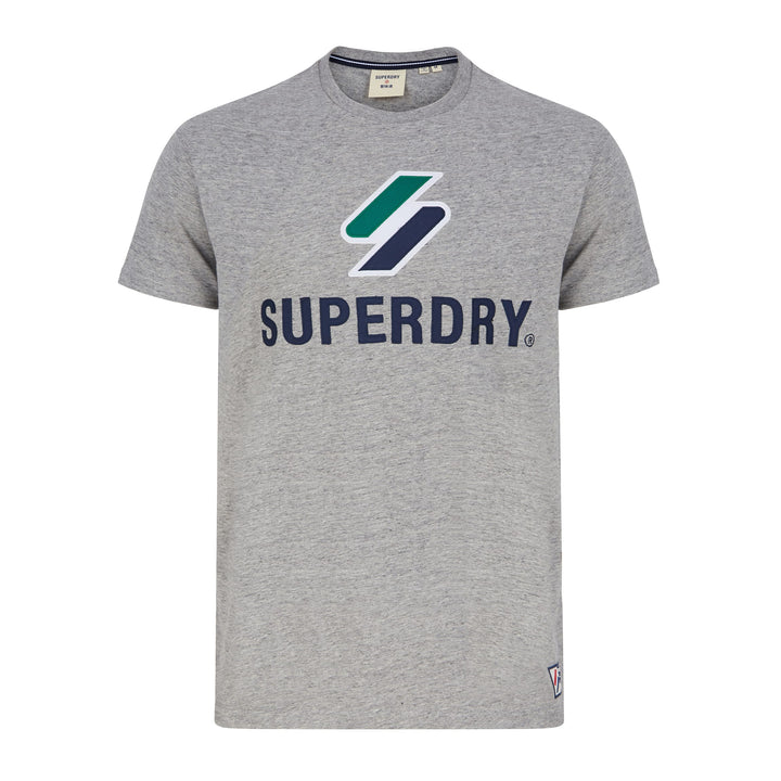 SUPERDRY SPORTSTYLE CLASSIC T-SHIRT M1010967A - Grey Slub Grindle (3ND)