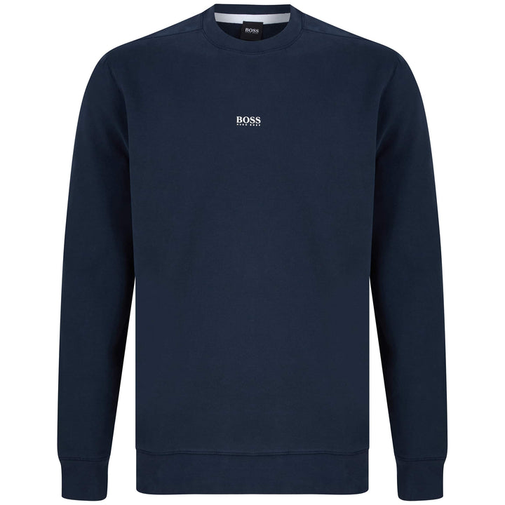 HUGO BOSS L/S WEEVO FITTED JUMPER 50418949 DARK BLUE (404) Media 1 of 3