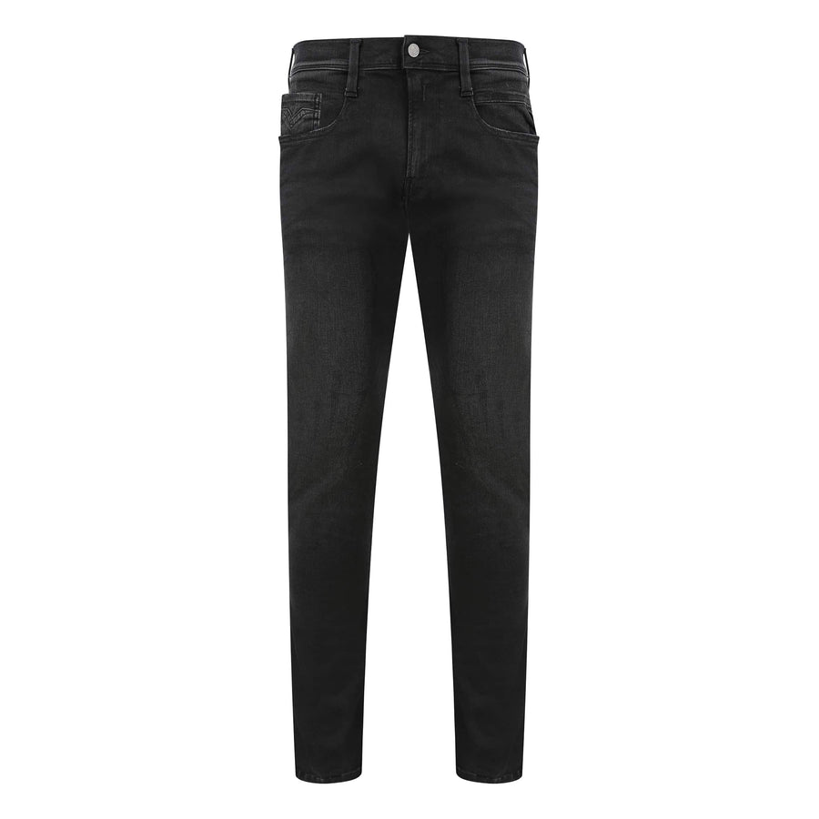 REPLAY ANBASS HYPERFLEX 5 POCKET JEAN M914 - 661 E01 098 WASHED BLACK