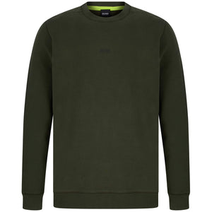 BOSS L/S WEEVO FITTED JUMPER 50418949 DARK KHAKI (346)