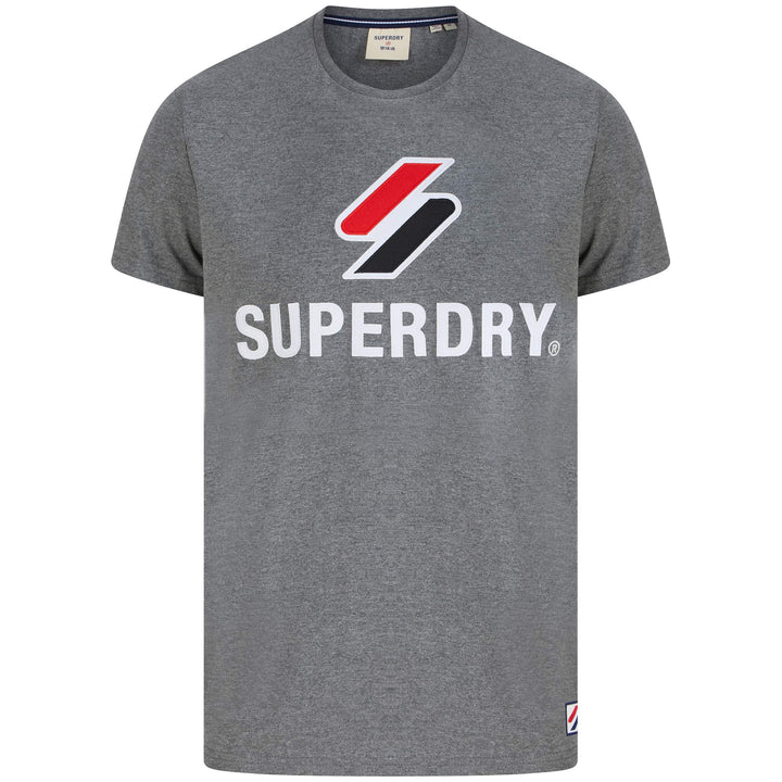 SUPERDRY SPORTSTYLE CLASSIC T-SHIRT M1010967A - Mid Grey Marl (HBA)