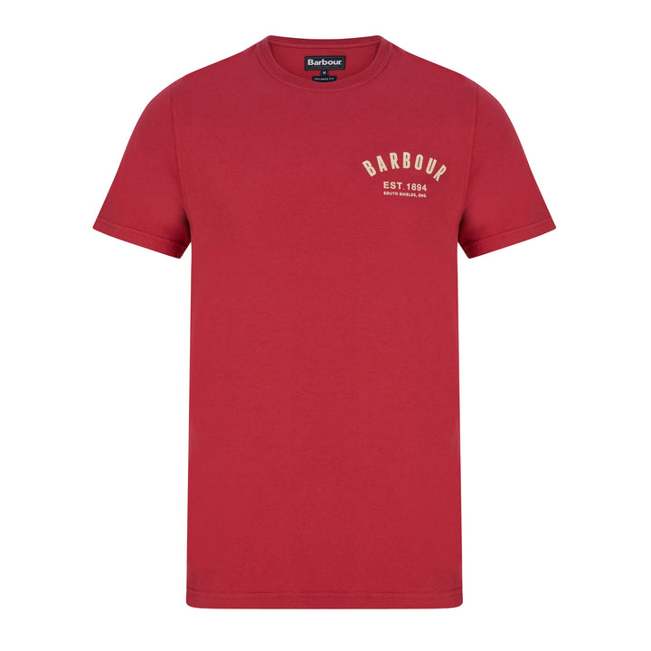 BARBOUR PREPPY T-SHIRT MTS0502 - Raspberry (RE74)